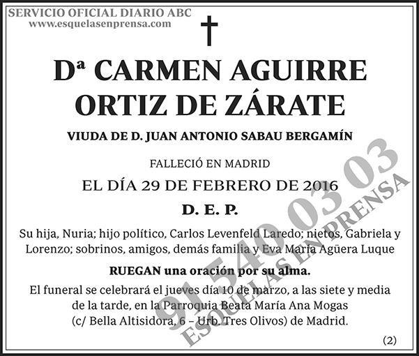 Carmen Aguirre Ortiz de Zárate